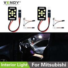 цена на 2pcs LED Panel Lights Interior Map Dome Trunk Lamp For Mitsubishi lancer x 10 l200 pajero sport outlander xl Galant rvr Eclipse