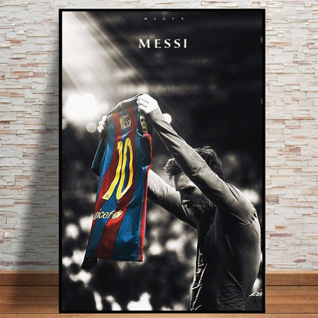Football Sport Star Lionel Messi Retro Poster Prints Soccer Player Canvas Painting Room Wall Art Picture Home Decoration Cuadros