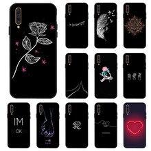 3D DIY Painted Black Case For Samsung A50 A70 A60 A40 A30 A20 A10 A20e Soft Cover Galaxy Bumper