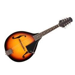 Panas Baru Sunburst 8-String Basswood Mandolin Alat Musik dengan Rosewood Steel String Mandolin Alat Musik Gesek Adjustabl