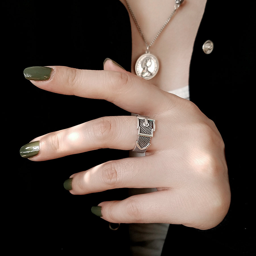 Vintage Silver Color  Belt Rings For Women Statement Jewelry Finger Ring anillos mujer bijoux 5