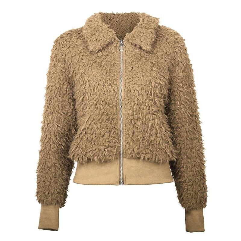 Cozy-Jacket Oversized Trendy Clothing Overcoat Street Winter Women New Casual Zipper