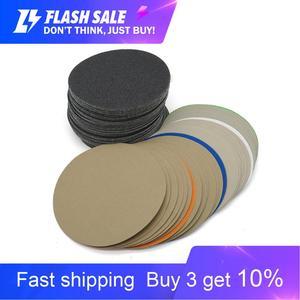 Image 1 - 20 adet 6 inç 150mm su geçirmez zımpara diskleri kanca ve döngü silikon karbür zımpara ıslak/kuru 60 10000 Grit parlatma