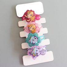 Desenhos animados pata patrulha perseguição skye marshall everest clipes doce princesa ornamento de cabelo bandana hairpins criança moda acessórios para o cabelo