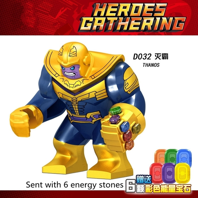 Marvel Avengers Thanos Iron Man Hulk Spiderman Batman Wolverine Building Blocks Movie Figures Super Heroes Toys