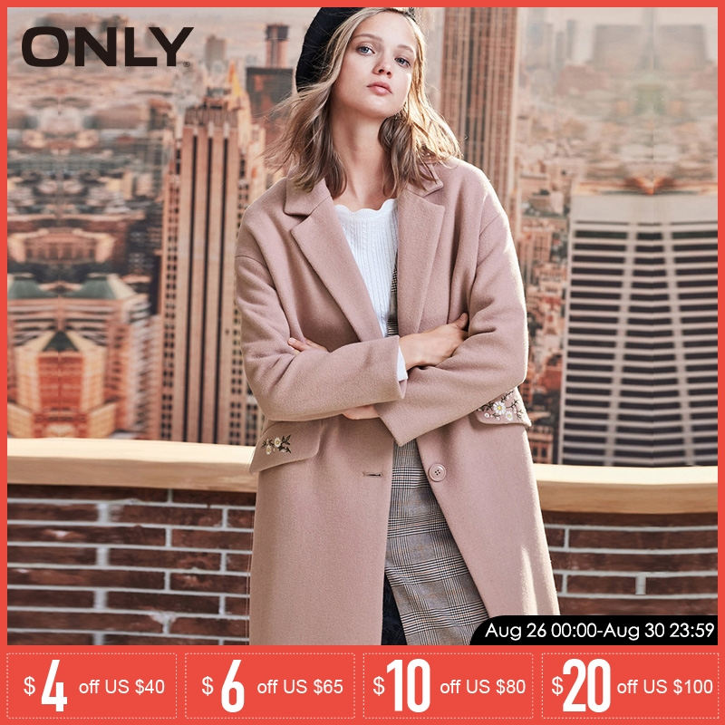 ONLY 2019 automne hiver femmes manteau de laine nouveau manteau de laine brodé pour femmes   11834S539