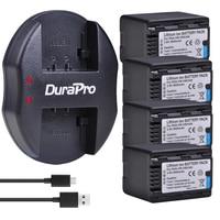 4x 3600mAH VW-VBK360 VW VBK360 Rechargeable Battery+USB Charger for Panasonic HDC-HS80 SD40 SD60 SD80 SDX1 SDR-H100 H85 H95 HS60