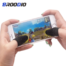 1Pair Sweatproof Touch Screen Thumb Finger Cover Gloves For Mobile Game Controller Non-slip Cots for PUBG Phone Gaming