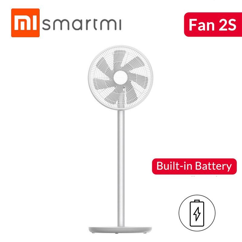 Xiaomi Smartmi 2S Ventilador de Chão DC Conversão de Freqüência Pedestal Fãs Casa Condicionador de Ar Portátil Recarregável Vento Natural
