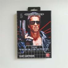 De Terminator Eur Cover Met Doos 16 Bit Md Game Card Voor Megadrive Genesis Video Game Console