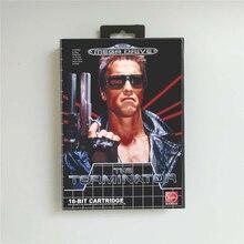 Terminator   EUR kapak kutusu ile 16 Bit MD oyun kartı Megadrive Genesis Video oyunu konsolu