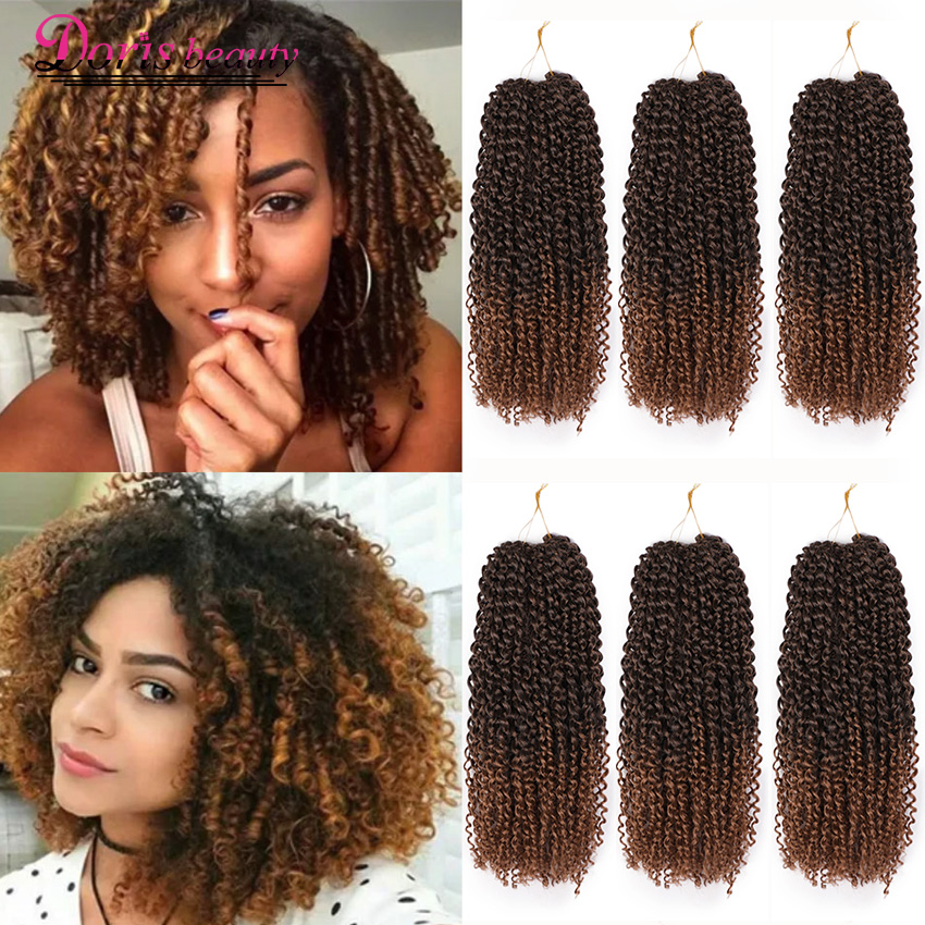 Marley Braid Curly Crochet Hair 8 Inch Ombre Braiding Hair Extensions Synthetic Crochet Braids Brown Brown Color Marley Braids Aliexpress