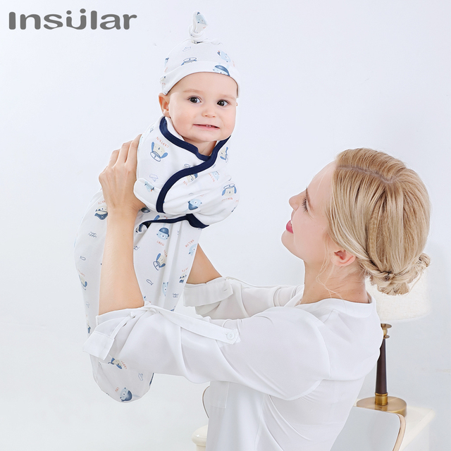 Muslin Baby Blankets Swaddles Newborn Sleeping Bag With Cap Soft Swaddle Wrap Cotton Baby Bedding Accessories Bath Towel Swaddle 4