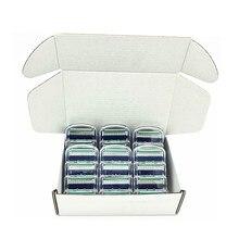 Custom Packaging Men Safety 5 Layer Shaver Razor Blades Shaving Cassettes Men Shaving Blades Replaceable Gilletee Fusione