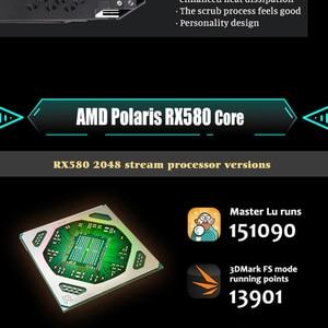 Image 5 - MAXSUN видеокарта rx 580 2048SP Big Mac 8G grafikkarte GDDR5 256bit AMD 7000MHz 1168 MHz 1284 MHz HDMI + DP * 3 + DVI RX580 video karte