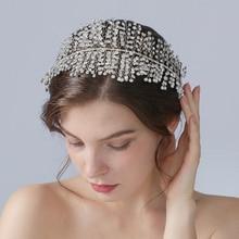 TRiXY H258 Gorgeous Crystal Wedding Headband Luxury Rhinestone Bridal Headpieces Wedding Hair Jewelry Bridal Hair Accessories