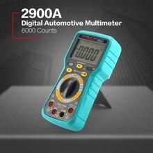 2900A Digital Automobil Auto Motor Multimeter 6000 Zählt True RMS AC/DC Volt Amp Ohm Dwell Winkel Dreh Geschwindigkeit tester