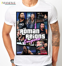 ROMAN REIGNS EMPIRE THE SHIELD SETH ROLLINS DEAN AMBROSE MENS KIDS T Shirt 100% Cotton Short Sleeve O-Neck Tops Tee Shirts 2019