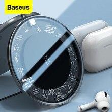 Baseus – chargeur sans fil Qi 15W, pour Airpods Pro iPhone 11 Xs Max, tapis de charge rapide sans fil pour Samsung S10 S9 Huawei P30 Xiaomi