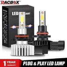 2pcs H4 H1 H7 H11 H8 H9 H27 880 881 9012 9005 HB3 9006 HB4 רכב LED פנס מנורות נורות 72W 12000LM H3 ערפל אור 6500K 10000K