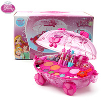 Disney Princess girls Makeup car with gift box Cosmetics House Eyeshadow Toy pretend play cosmetic set for kids gift