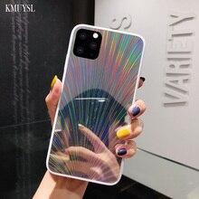 Bing Блестящий зеркальный чехол для iPhone X XS Max XR 7 6 S 8 Plus лазерный чехол с перьями павлина для iPhone 11 5,8 6,1 6,5 дюйма