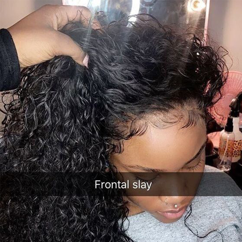 Deep Curly 360 Lace Front Human Hair Wigs 250 Density 13x6 Lace Frontal Wig 370 Fake Scalp Brazilian Short Bob Lace Wig Dolago