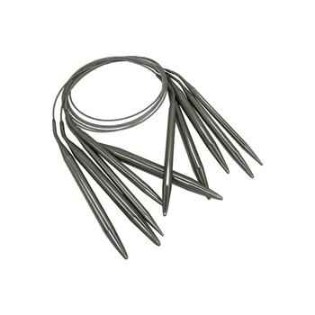 1 5-10mm ze stali nierdzewnej okrągłe igły do robienia na drutach szydełkowe igły szpilki igły narzędzia rzemieślnicze do zestawu dziewiarskich haki DIY tkania tanie i dobre opinie Senha s CN (pochodzenie) STAINLESS STEEL Circular 1 5mm-10 0mm Tak ( 50 sztuk) do szycia ręcznego set crochet knitting