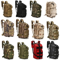 25l 전술 배낭 3 p 전투 육군 야외 스포츠 가방 배낭 여성 남성 캠핑 하이킹 molle 가방 등산
