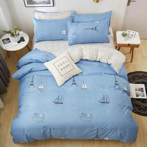 Image 5 - Bedding Set Fashion house  luxury bed cover sheet Pillowcase Wavy stripes Home textile  Family Bed Linens  High Quality