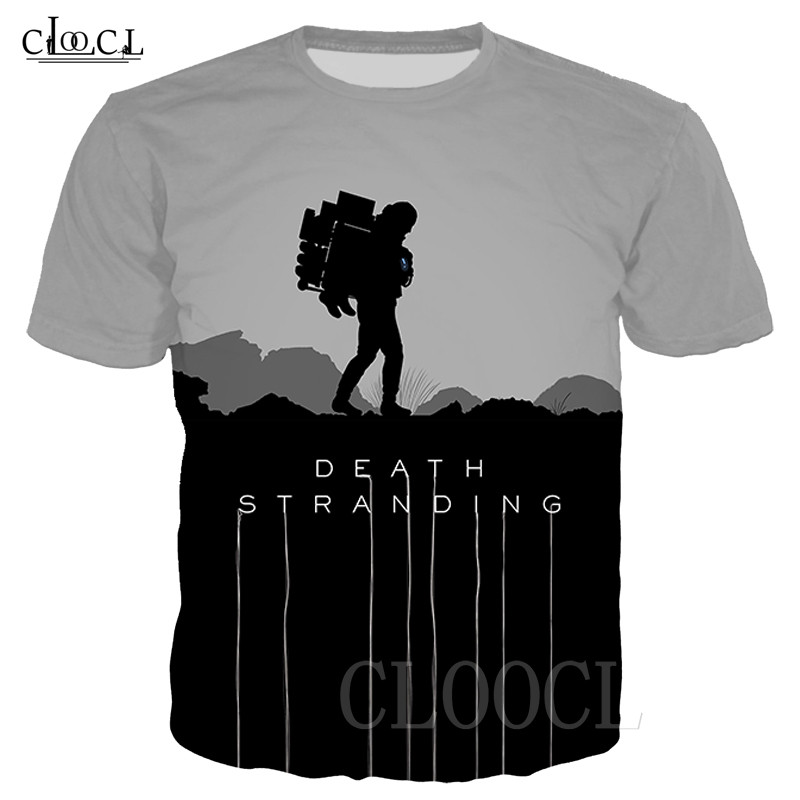 Death Stranding T Shirt Unisex Hip Hop Tshirts 3D Print Game Anime T Shirt Summer Fashion Casual Pullover For Men Women Dropship