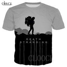 Camiseta Unisex de Death Stranding Hip Hop para hombre y mujer, Camiseta con estampado 3D de juego de Anime, Jersey informal de moda para verano