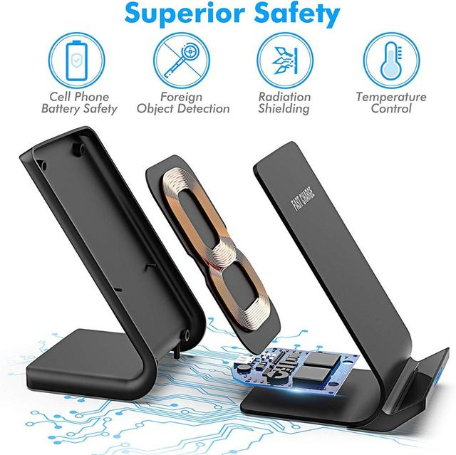 30W Qi Wireless Charger Stand For iPhone 12 11 Pro X XS Max XR 8 Samsung S20 S10 Note 20 Fast Charging Dock Station Phone Holder 4