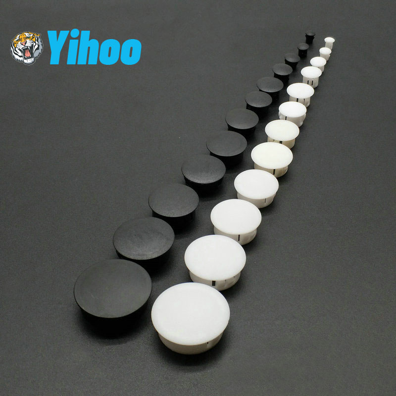 20 Hole Covers 10mm IROX Grey Plastic Head 14mm Hole Cover Cap