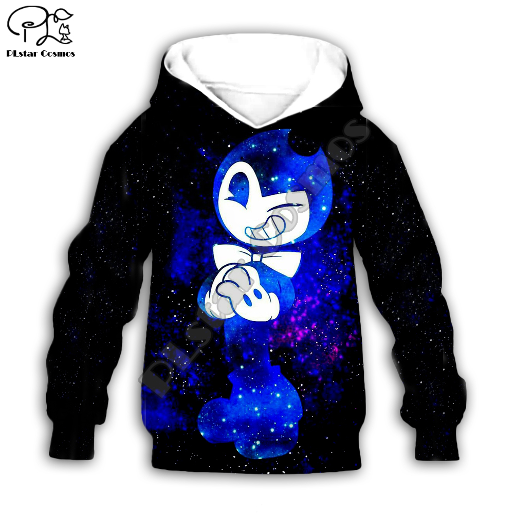 Kids Cloth Anime Bendy Cartoon Children's Wear 3d Hoodies/tshirt/boy Sweatshirt Cartoon Hot Movie Pant Style-4