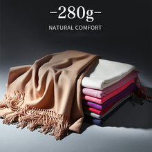 2019 autumn and winter models large size thick warm fashion scarf ladies classic tassel wild casual