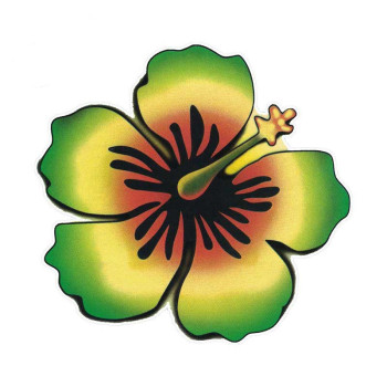 DAWASAKA Car Stickers for Rasta Hibiscus Decal Flower Window Bumper Sticker Waterproof Car Styling Accessories 13cm X 12cm недорого