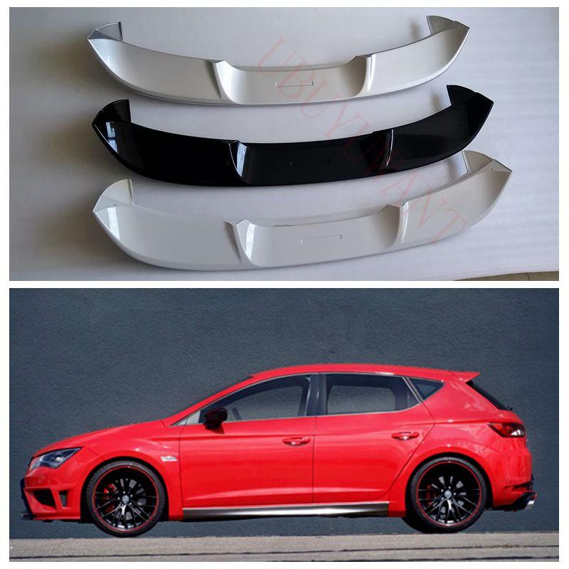 Ubuyuwant alta qualidade abs material spoiler para seat leon 2016-2019 primer cor cauda do carro asa decoração tronco traseiro spoiler