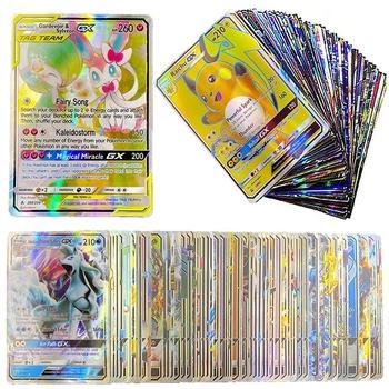 200 sztuk Pokemon świecące karty pole gry TAG zespół EX wyświetlacz karty Pokémon MEGA GX energii bitwa Carte handlu zabawki dla dzieci prezent tanie i dobre opinie TAKARA TOMY CN (pochodzenie) 7-12m W wieku 0-6m 13-24m 25-36m 4-6y 12 + y 7-12y can t eat pokemon card Certyfikat europejski (CE)
