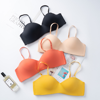 New Sexy Fashion Seamless Bras for Women Push Up Underwear Half Cup Multi Color Brassiere Female Intimates Lingerie