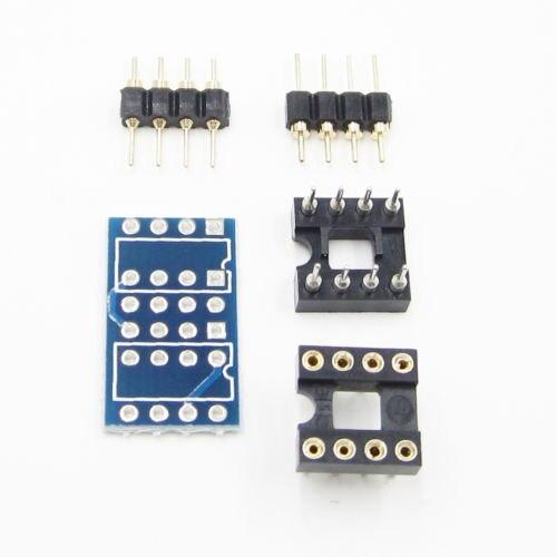 2PCS Dual DIP8 to DIP8 Mono Opamp PCB Board for NE5532 OPA2132 OPA627 TL072 P05
