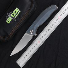 Folding Knife Edc-Tool Tc4titanium-Handle M390 Blade Green Thorn Hunting Outdoor Camping