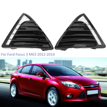 цена на YTCLIN LED DRL Daytime Running Lights for Ford Focus 3 MK3 2012 2013 2014 Day Light Fog Lamp Waterproof  Car Light Assembly