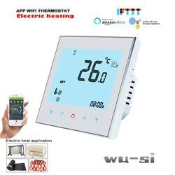 Ue 95-240vac 16a termostato de aquecimento elétrico para calor elétrico, cabo de aquecimento, filme de aquecimento elétrico, funciona com o google casa