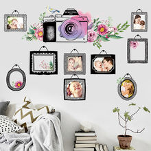 Wall Sticker Record Good Times Warm Bedroom Decor Fashion Self-adhesive Photo Frame Living Room Decoration DIY Mural Home Decor(China)