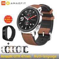 [Wersja globalna] w magazynie 2019 Huami Amazfit GTR 47mm 42mm GPS inteligentny zegarek mężczyźni 5ATM wodoodporny Smartwatch 24 dni baterii