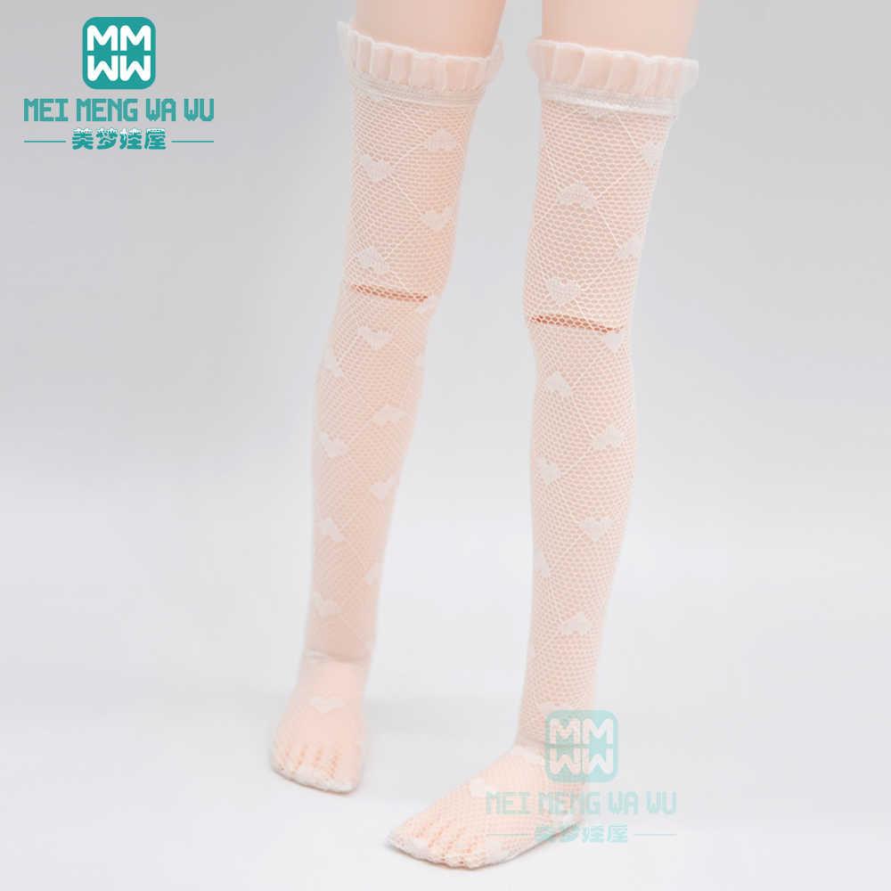 Se encaixa 1/3 1/4 1/6 bjd dd sd msd yosd boneca moda preto meias boneca acessórios