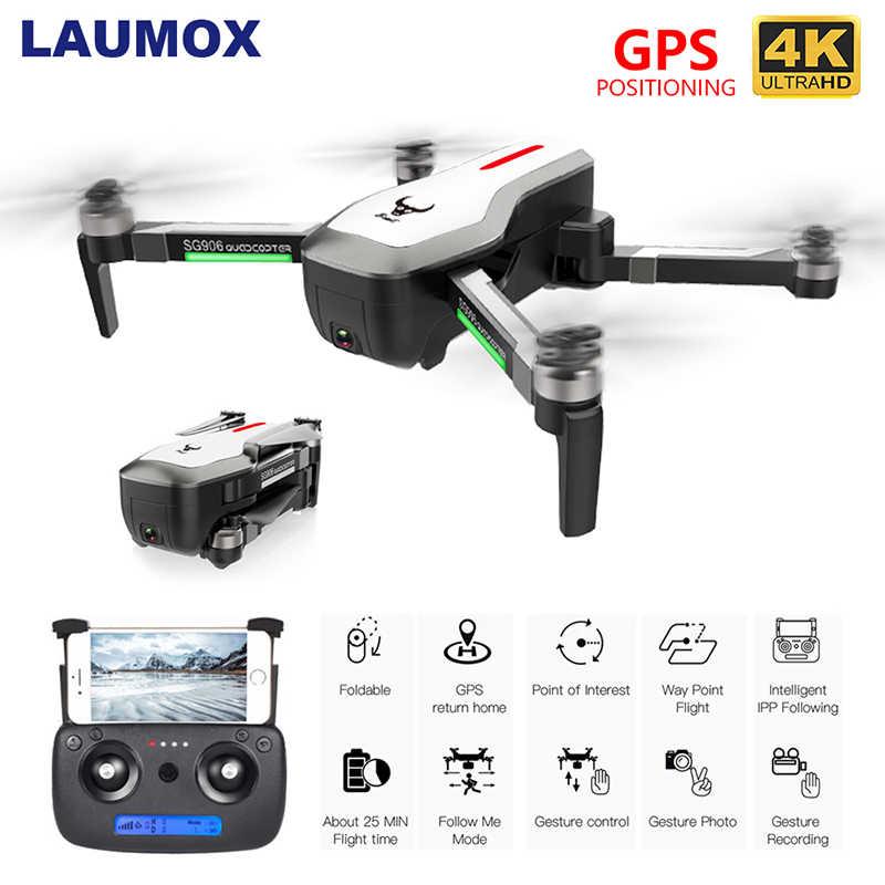 LAUMOX SG906 Drone GPS 5G WIFI FPV 4K HD กล้อง Brushless Selfie พับ Drones RC Quadcopter RTF VS H117s B4W ZEN K1 F11