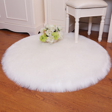 Faux Fur Wool Round Rugs Carpets Soft Living Room Sofa Carpet Plush Carpets Bedroom Mat Seat Fur Area Rugs Warm Hairy Carpet learning carpets us map carpet lc 201