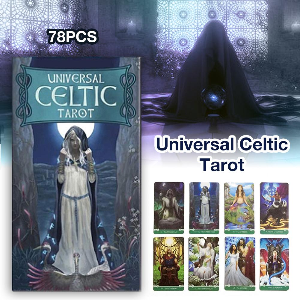 Taort Cards 78 Universal Celtic Tarot Card Games78 Sheets English Version Entertainment Props Stay At Home Kill Time Game